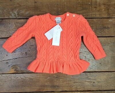 NWT Ralph Lauren Baby Girl Cable-Knit Sweater 9 months $55 (F1)