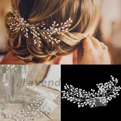 Women Bride Hair Comb Wedding Jewelry Headpieces Pearl Hair Accessories Dating