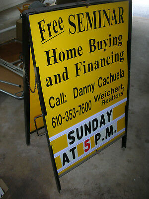 Display Sign Metal A-Frame Double Sided Advertising   LOCAL PICKUP ONLY