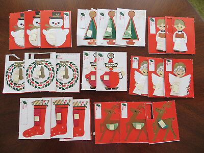 22 Vintage Gift Tags or Gift Package Decorations   Honeycomb Inserts