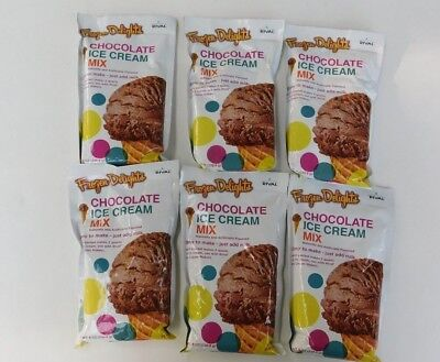 Lot Of 6 Chocolate Rival Frozen Delights Ice Cream Mix