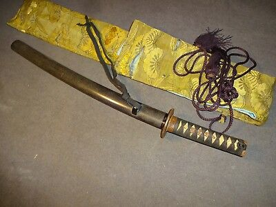K77 Japanese sword wakizashi in mountings