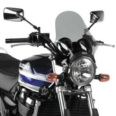 A210 Universal screen, smoked 36,5 x 35 cm, universal fitting kit included GIVI