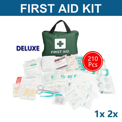 210pcs First Aid Kit Medical Family Supplies Workplace Travel Set Green x1 x2 AU