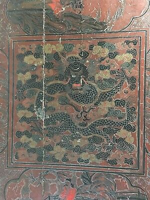 Very Important Imperial Ming Dynasty (1368-1644) Five Clawed Dragon Laquer Table