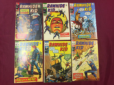 Rawhide Kid #59-89 Lot 6 Books in Avg. 6.5 FN+ Western Classics B@@yah!