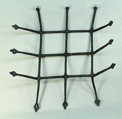 *Antique 17th c. Pennsylvania Hand Wrought Iron Window Guard Grate