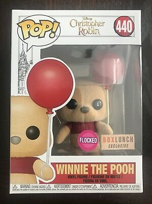 Funko Pop Winnie the Pooh w/ Balloon Flocked Box Lunch Exclusive w/ PROTECTOR
