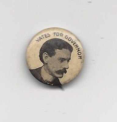 Richard Yates Jr. Illinois (R) Governor 1901-04 political pin button
