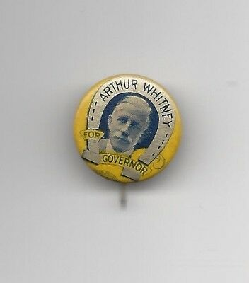 Arthur Whitney New Jersey (R) Governor nominee 1925 political pin button