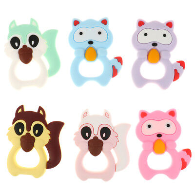 Silicone teething toy baby teether beads DIY chew necklace nursing pendant WL