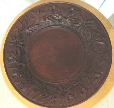 Antique Art Deco/art Nouveau Carved Wood Bowl Music Box Victor Michel Schweitz