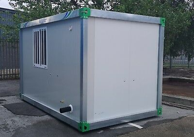 **NEW** 4m 6 man Welfare Cabin Unit , mains connected toilet,water,insulated