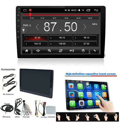 """Ultra thin Android 6.0 10.1"""" 2Din Quad-Core 1+16G Car Stereo MP5 Player DAB TPMS"""