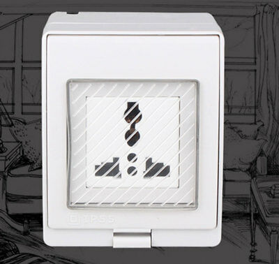 Waterproof YRL-S IP55 13A Single Plug Socket Storm Switched Outdoor Universal