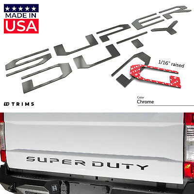 BDTrims   Chrome Tailgate Letters for Ford Super Duty 2017-2019 ABS Plastic