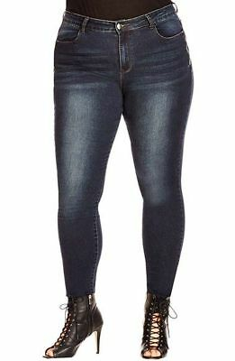 Cutest BNWT CITY CHIC 'Side Zip' Skinny Jeans rrp $99.95 - Size 22