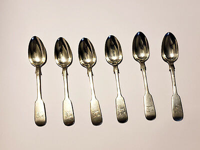 Antique George Savage Sterling Silver Spoons Set of 6 -- Canada -- Rare -- LOOK