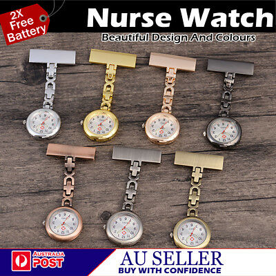 Brand New Metal Medical Nurse Brooch Nurse Nursing Pendant Pocket Fob Watch  *AU