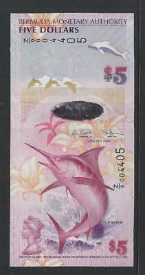 BERMUDA - P58r - 2009 $5 hybrid note - Z/0 REPLACEMENT - UNCIRCULATED