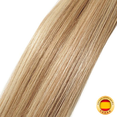 Extensiones de pelo humano micr(56 cm #12/613 Golden Brown with Bleach Blonde)