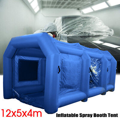 39x16x13Ft Inflatable Spray Booth Custom Tent Car Paint Booth Inflatable Blue