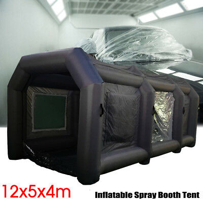39x16x13Ft Inflatable Spray Booth Custom Tent Car Paint Booth Inflatable Black