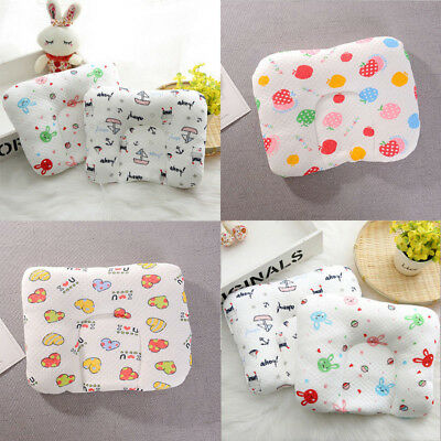Newborn Baby Infant Memory Soft Pillow Prevent Flat Head Anti Roll Support Neck