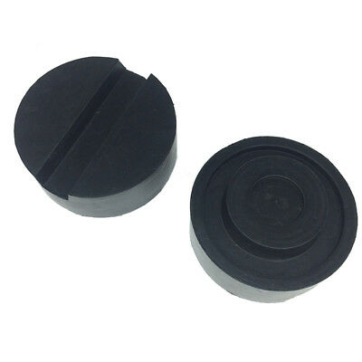 2pcs Car Anti-slip Diameter 6.5cm Jack Pad Tool Rubber Protector Adapter Black