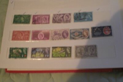 Great Britain Used Stamps- Queen Elizabeth Early Stamps Total 13 Stamps