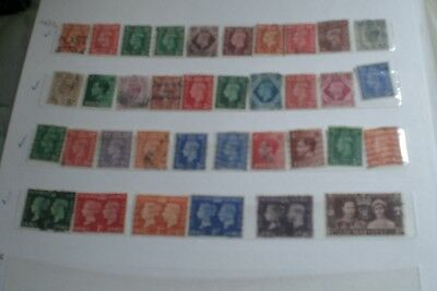 Great Britain Stamps- King George Vi  Stamps Total 36 Stamps