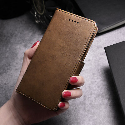 Luxury Leather Magnetic Card Wallet Flip Case Stand Cover For Samsung Galaxy