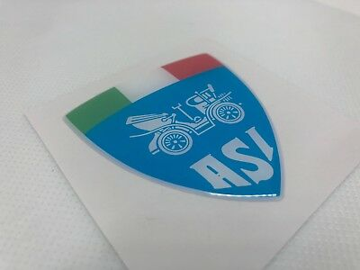 1 pcs. ASI badge logo sticker. Domed 3D Stickers/Decals. 55x59mm