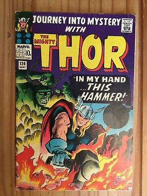 Thor #120 Journey Into Mystery ,Marvel ,1965 Grade VG/FN