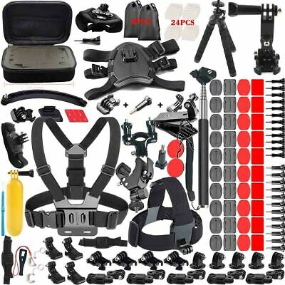 180in1 Head Chest Mount Monopod Accessories Kit For Gopro Hero 6 5 4 3 2 Camera