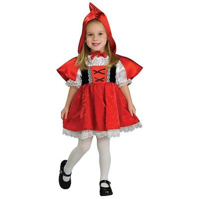 Red Riding Hood Toddler Girls size 2/4 Dress-Up Costume Rubie's CHOP