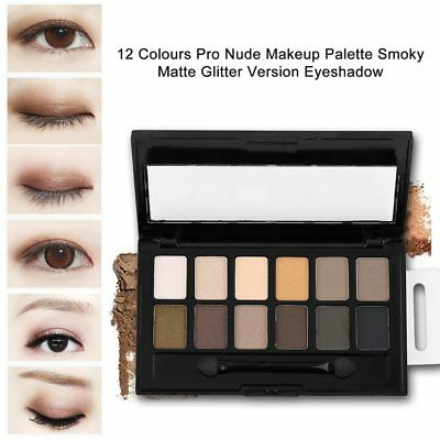 12 Colours  Pro Nude Makeup Palette Smoky Matte Glitter Version Eyeshad BE