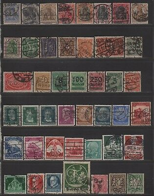 Germany Synoptic - All Different Stamps Perfin Lot of Different Design Faces