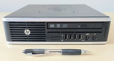 HP Ultra Slim i5 Quad Core + Radeon HD 2GB ** WARRANTY ** Elite 8300 HTPC Win10