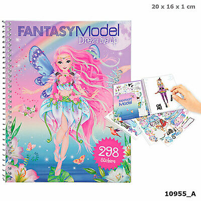 Fantasy Model Dress me up Stickerbook Malbuch m. Stickern TOPModel Depesche 8755