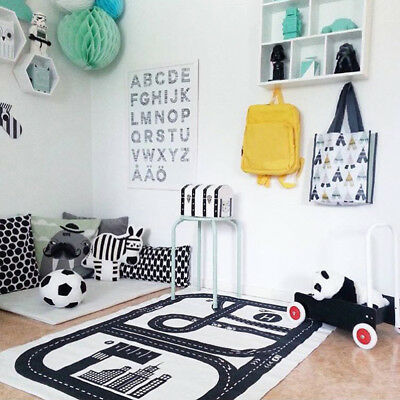 Soft Cotton Baby Kids Game Activity Road Play Mat Crawling Blanket Floor Carpet