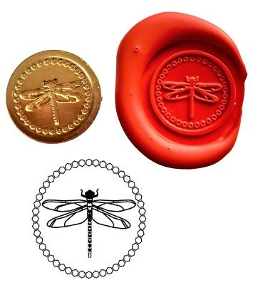 Dragonfly Insect Wax Stamp Seal Starter Kit / Buy the Coin Only XWS039B/XWSC146