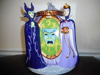Disney Villians Cookie Jar - Maleficent, Ursula And Evil Queen - Never Used