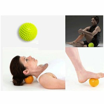 Spiky Foot Sole Hand Massage Ball Yoga Sports Fitness Hand Foot Pain Reli BE