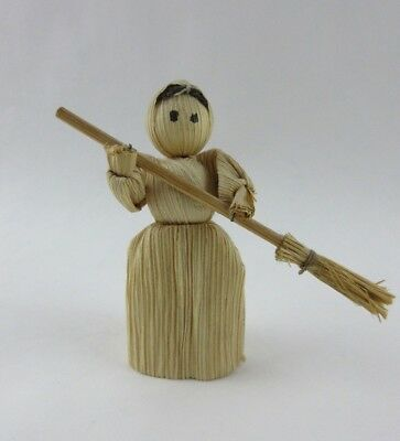 Small Woman/Witch with Broom purchased at a museum in Salem, MA