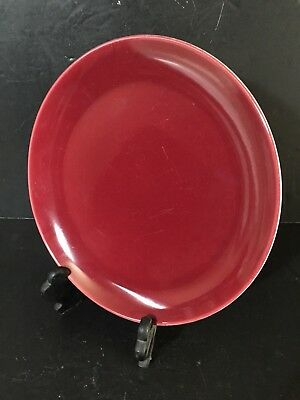 "VTG RED CATALINA ISLAND Pottery 12.5"" charger platter GGIE worlds fair exhibit!"