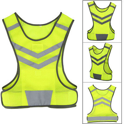 Reflective Vest Safety High Visibility Security For Night Work Sport Running Etc