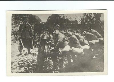 """Photo Postcard of soldiers taking a """"dump""""! Military social history"""