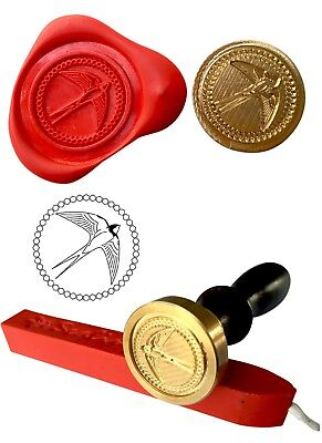 Swallow Bird Wax Stamp Seal Starter Set Kit or Buy the Coin Only XWS039B/XWSC156
