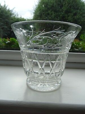 Medium Cut Glass Vase